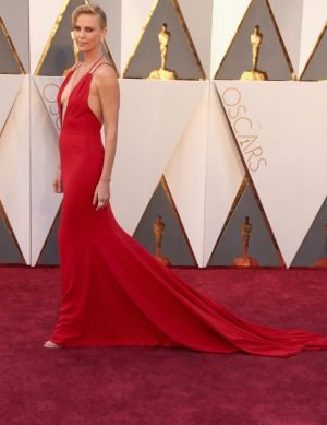 Mad Max star Charlize Theron attends the 88th Annual Academy Awards.
