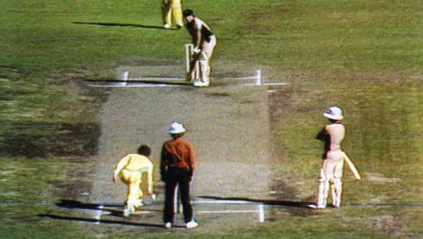 Trevor Chappell's underarm bowl on February 1, 1981.