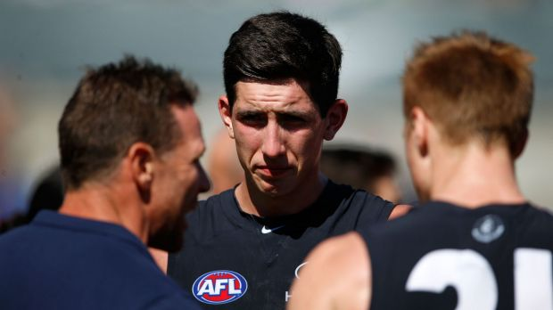 No.1 draft pick Jacob Weitering will be lining up for Carlton, but skipper Marc urphy won't play.