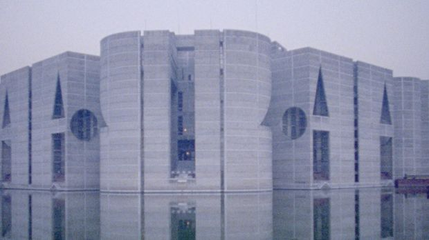 Louis Kahn's masterwork  the National Assembly in Dhaka, Bangladesh, in a scene from My Architect.