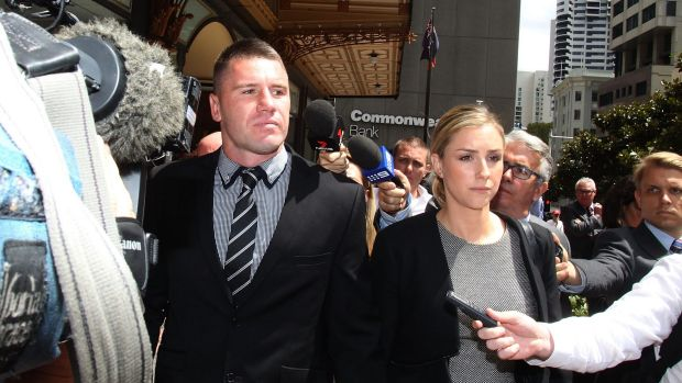 Cleared: Sydney Roosters player Shaun Kenny-Dowall leaves court.
