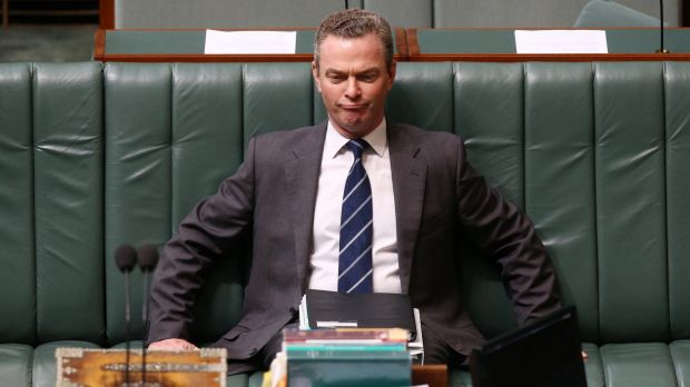 Industry Minister Christopher Pyne during question time on Monday.