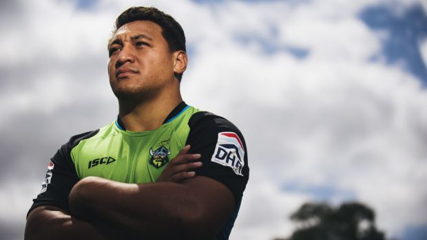 Ready to go: Canberra Raiders forward Josh Papalii.