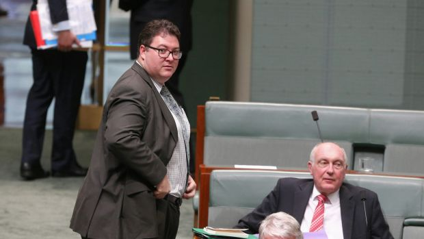 Coalition MP George Christensen during question time on Monday.