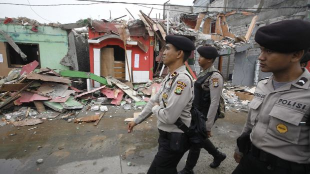 Authorities expected confrontation but encountered none as buildings were demolished in Kalijodo on Monday.