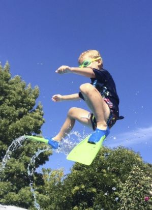 Alex Rankin - Canberra summer backyard pool fun.