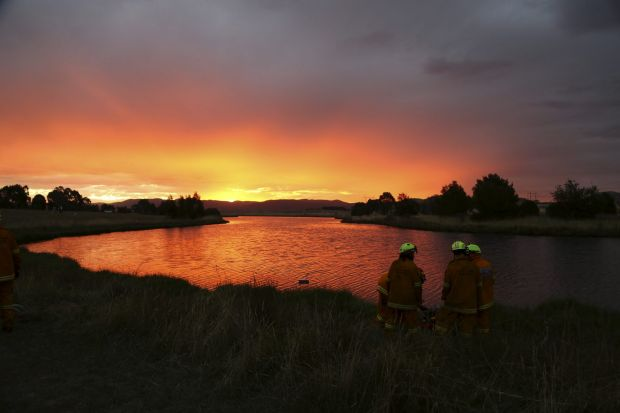 Dave Tunbridge - Firefighting pumps training. Molonglo Rural Fire Service members training in pumping operations. This ...
