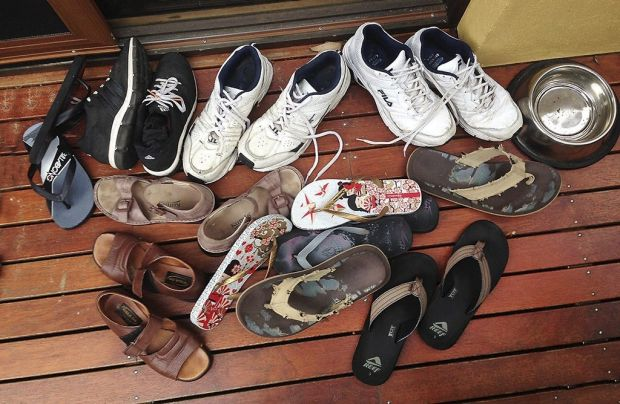 Alan Nicol - Summer Shoes - Summer always brings lots of guests. Moruya Heads.