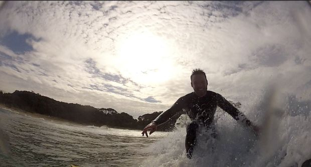 Brendan Cush - McKenzies Beach. Adrian Cush enjoying an early morning surf photographed by his younger brother, Brendan, ...
