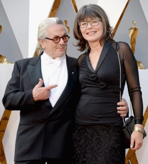 George Miller and his editor wife Margaret Sixel at the Academy Awards last year.