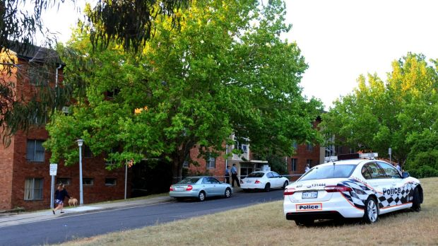 Police investigating a suspicious death at the Stuart Flats in Griffith.