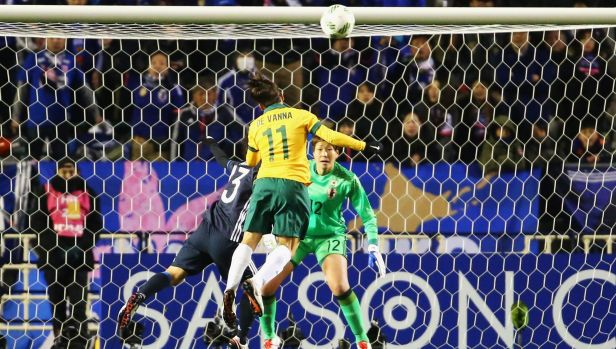 Goal: Lisa De Vanna heads home for Australia against Japan in Osaka.