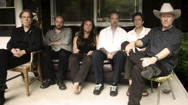 American band Swans, with founder Michael Gira at the far right.