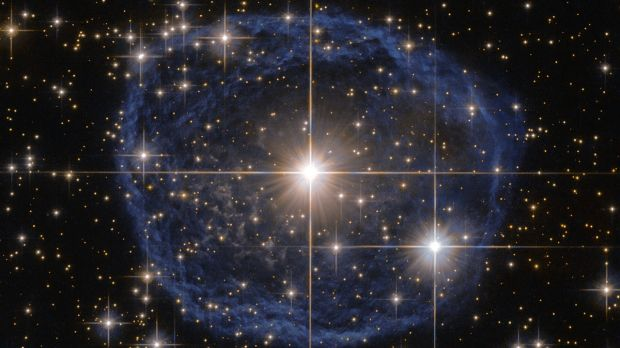 Sparkling at the centre of this beautiful NASA/ESA Hubble Space Telescope image is a Wolf-Rayet star known as WR 31a.