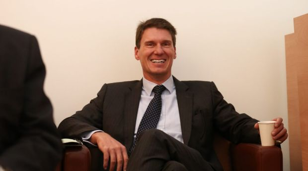 Senator Cory Bernardi at a joint partyroom meeting in Canberra last year.