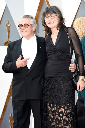 Director George Miller and editor Margaret Sixel, his wife, at the Academy Awards.