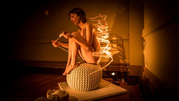 """Artist Casey Jenkins came to prominence as the """"vagina knitter"""" after a video of her work went viral. She has a new show ..."""