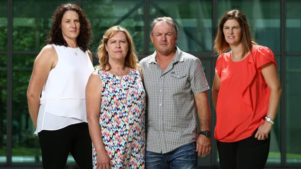South Australians Kellie Hunt, Sue Woolford, Peter Woolford and Toni Scott have visited Parliament House to oppose a ...