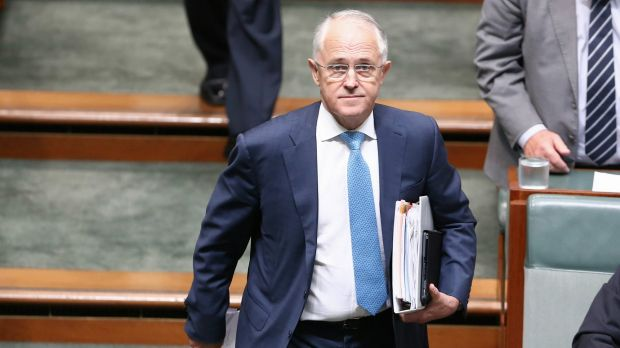 Prime Minister Malcolm Turnbull arrives for question time on Tuesday.
