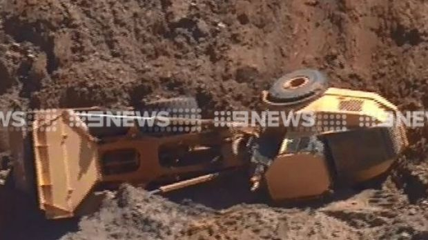 The scene of a fatal crash on a work site in South Gippsland.