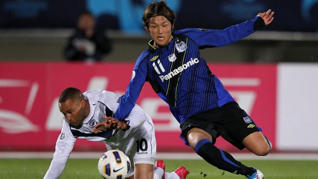 Star performer: Takashi Usami is versatile enough to play either as the main striker or in support, or even in a wide area.
