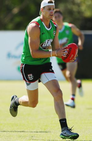 Lighter and fitter in 2016: Nick Riewoldt.