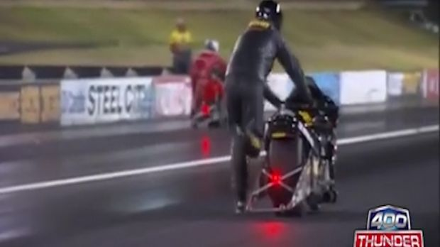 The world's slowest drag race has gone well-and-truly viral.