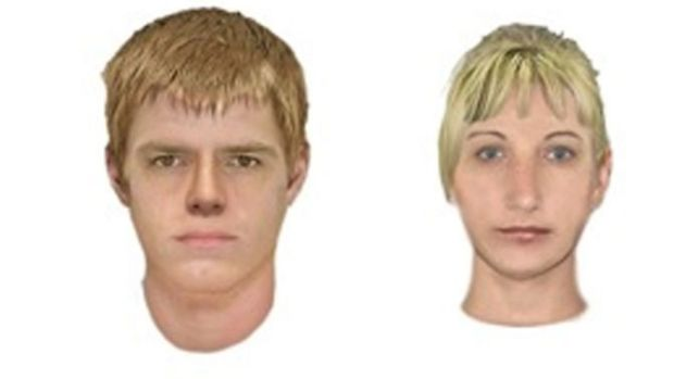 Computer-generated images of the man and woman wanted over a bashing in Templestowe.