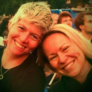 Elise Ryan, left, was killed in a crash in Sydney. She is pictured with Lara.