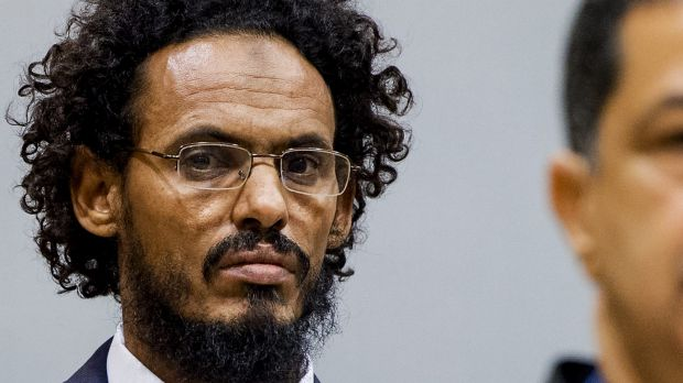 Ahmad Al Mahdi Al Faqi  at the International Criminal Court in The Hague in September for a preliminary hearing.