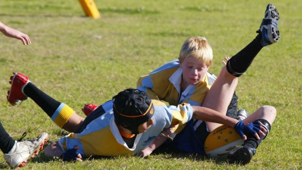 'High risk of serious injury': Schoolboy players at Waratah Oval in Gymea, Sydney.