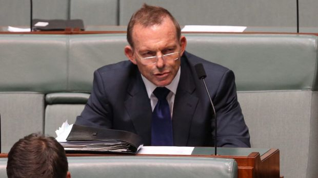 Former prime minister Tony Abbott during question time on Wednesday.