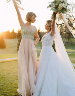 Taylor Swift was maid of honour for her childhood best friend Britany Maack, last month.
