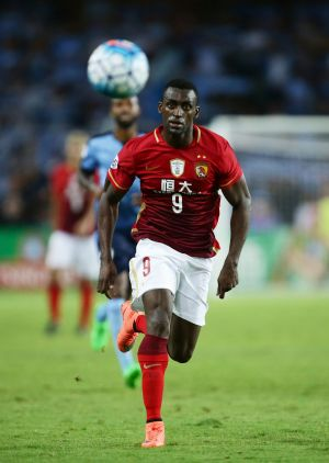 Quiet night: Guangzhou's $65 million man Jackson Martinez was kept quiet by the Sydney defence.