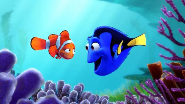 Dory (Ellen DeGeneres) and Marlin (Albert Brooks) in 2003's <i>Finding Nemo</i>.