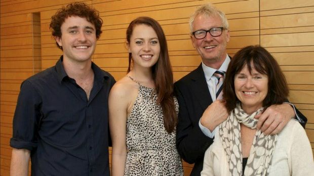 The Lawrence family, from left, Tom, Anna, Neil and Caroline.