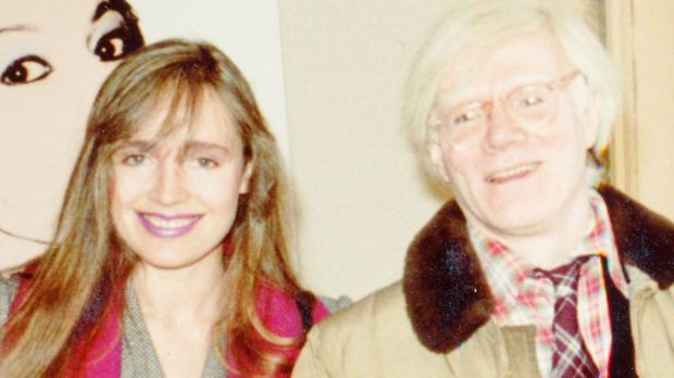 Lyndall Hobbs with Andy Warhol.