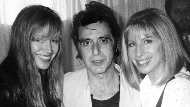 Lyndall Hobbs with Al Pacino and Barbra Streisand.