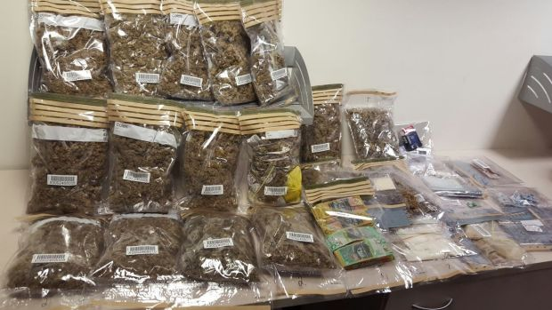 Drugs allegedly seized by police in Wolseley Road, Point Piper.