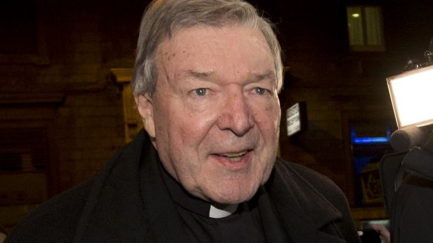 Cardinal George Pell arrives at the Quirinale hotel in Rome on Tuesday to testify via videolink to the Royal Commission ...