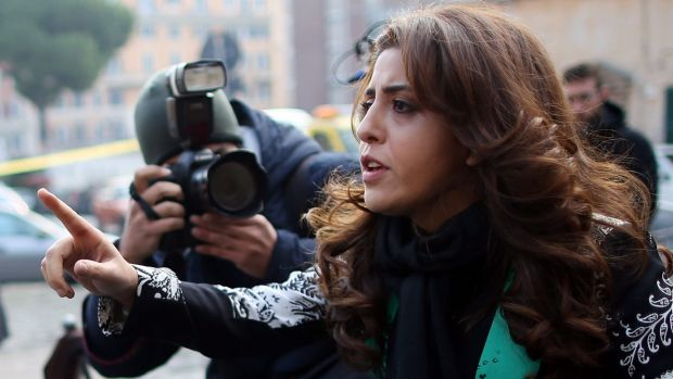 "Public relations expert Francesca Chaouqui arrives at the ""Vatileaks 2.0"" trial session in December."