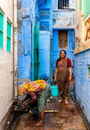 Open sewer cleaners in Jodhpur, Rajasthan, India.