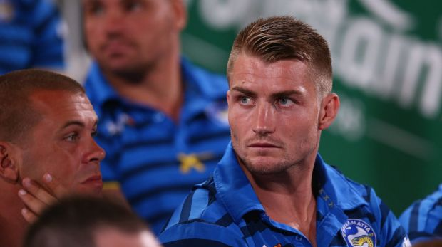 On his way back: Parramatta's Kieran Foran.