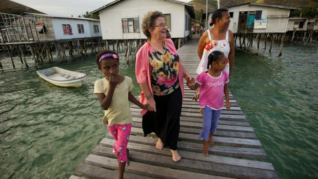 Dame Carol Kidu at her home village in Port Moresby in 2011.