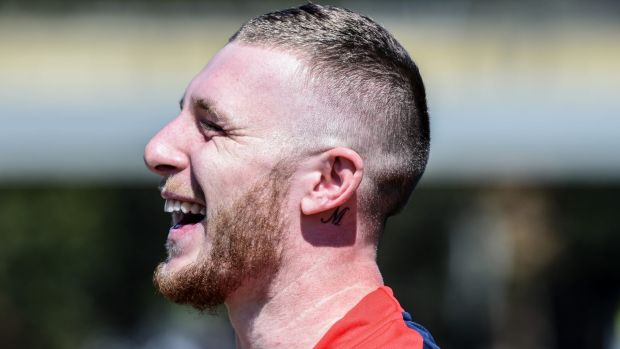 As good a laugh as JT?: Jackson Hastings will take on Johnathan Thurston on Thursday night.