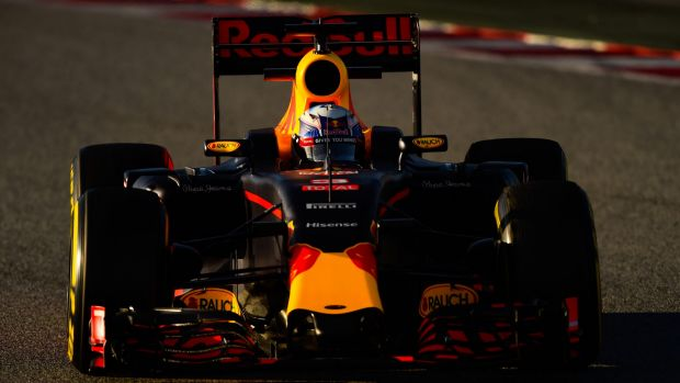 Daniel Ricciardo drives during day four of F1 winter testing at Circuit de Catalunya in Spain.