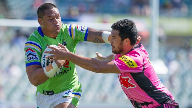 Raiders player Joey Leilua is on the cusp of an Origin debut.