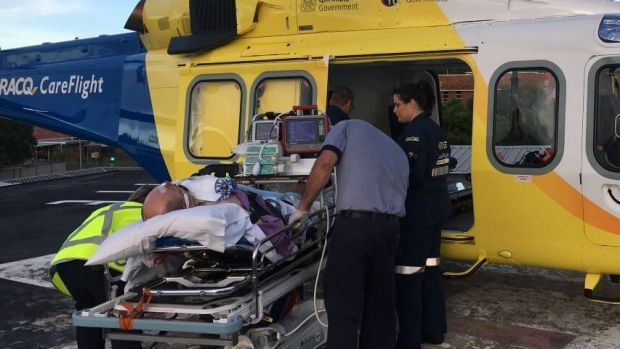 Oakey man flown to Gold Coast University hospital with head injuries