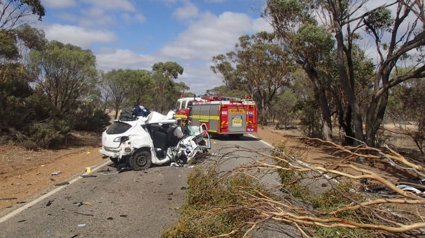 The scene of a fatal crash in Jennapullin on the Labor Day long weekend, which claimed a Mosman Park man's life.