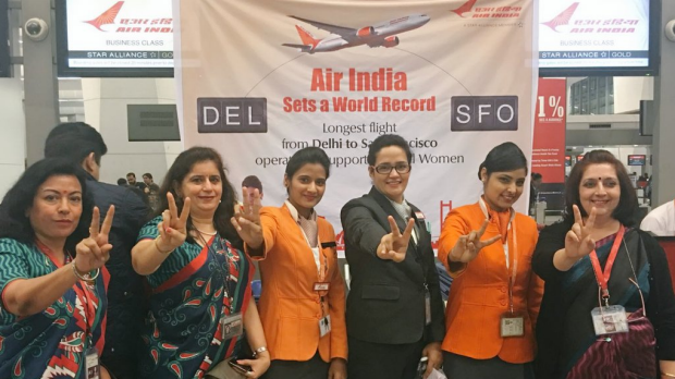 All-women team: Air India is attempting to set a world record for International Women's Day.